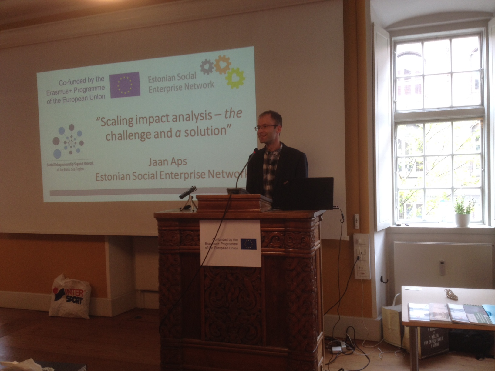 Jaan Aps - Dissemination Conference for Erasmus+ Project SEBSR 20th May 2016 in Copenhagen
